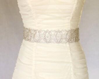 Eden bridal sash, wedding sash, bridal belt, wedding belt, bridal accessories, rhinestone crystal sash