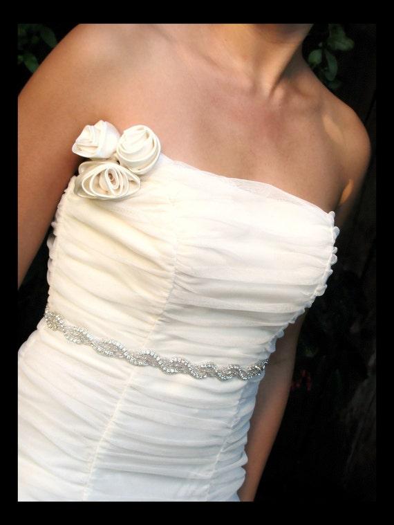 Della bridal belt sash,  Rhinestone beaded bridal belt sash, bridal accessories