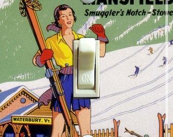 MAD RIVER GLEN Vintage Ski Poster Light Switch Plate (single)  ***Free Shipping***