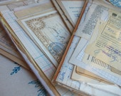 30 Special sheets of vintage Spanish ephemera - Antique paper pack for collage and scrapbooking