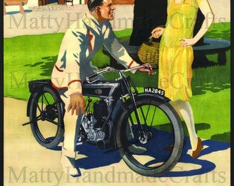 Levis Motorcycles, Levis, Motorbike, 1930s Advertising Print