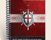 Father's Day Gift / Personalized Prayer Journal / Notebook  - More Than Conquerors - Romans 8:37