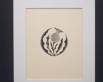Prints--Thistle in the Round