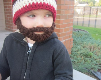 20% OFF Kids ULTIMATE Bearded Beanie Burgundy Mix