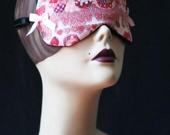 "Lolita Sleepmask ""Let me eat cupcake"" in Kawaii Cotton  by Love Me Sugar  on Etsy"