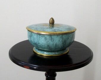 Vintage Tin Mid Century Round