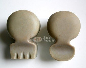 Spoon and Fork Silicone Soap Mold 2pcs/set ( Soap Republic )