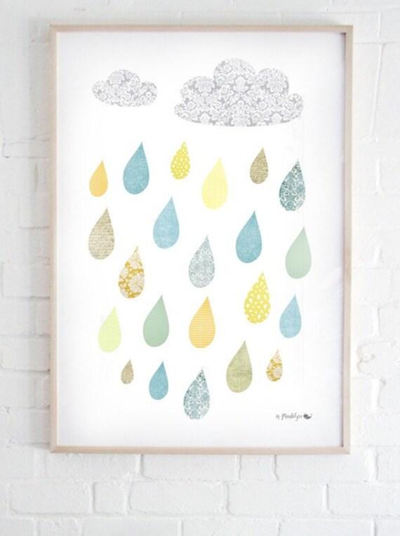 A3 rain print
