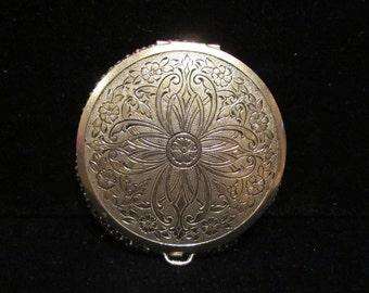 1930's Mesh Compact Vintage Evans Powder Compact Silver Mesh Compact Mirror Compact RARE