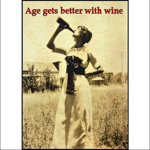 Age Gets Better With Wine - Magnet