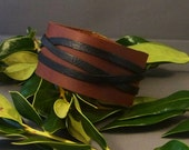 Leather Cuff, Vintage Brown Leather cuff, Womens Cuff, Mens Cuff, Boho Leather Cuff, Leather Wristband, Black Leather cuff, Gift