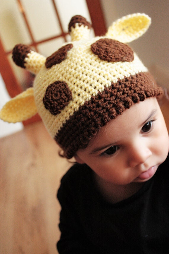3 to 6m Baby Giraffe Hat, Giraffe Prop, Jungle Safari Hat, Yellow Hat Baby Animal Baby Hat Polka Dot Hat Giraffe Beanie Photo Prop Gift