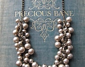 Mocha Pearl Cluster Necklace