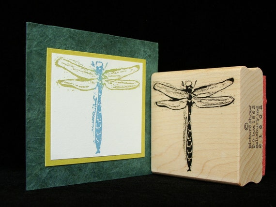 dragonfly rubber stamp (large)