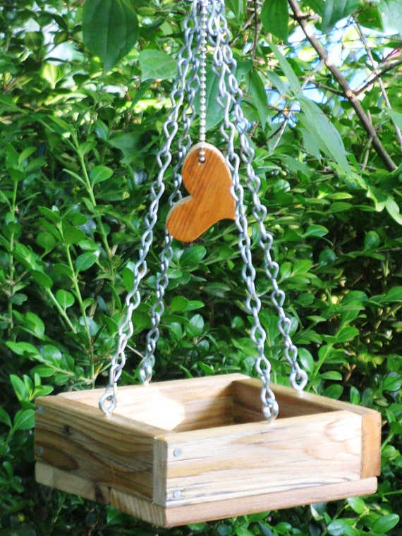 Sweet and Simple - Mini Bird Feeder Tray, Eco Friendly, Recycled, Vintage Materials