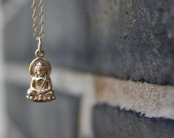 Buddha Necklace - Gold Buddha Pendant . Womens Yoga Jewelry . Outdoor & Sportsman . Gift Ideas for Her, Friend, Yogi