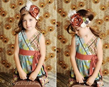 Fall Leaf Matilda Jane You and Me Fall Rosette headband wide lace persnickety