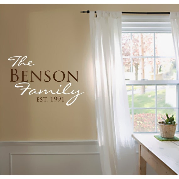 Family Wall Decals - Personalized Wall Decals - Family Established Signs - Custom Wall Decals - Family Wall Art - Family Wall Decor