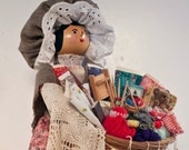 Sewing Peddler Doll 18""