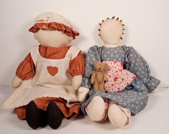 Vintage Amish Rag Dolls