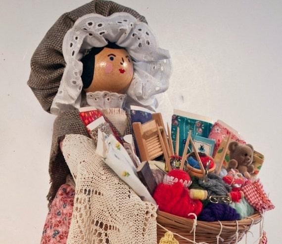 "Sewing Peddler Doll 18"""