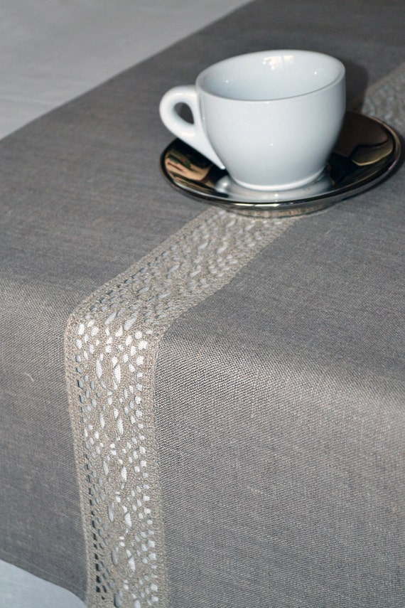 Lacey natural organic linen gray table runner 16 x 90 inches for 85 inch table runner