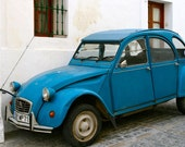 Car Print - Citroen Ugly Duck Print - Portugal Photography Portuguese European Decor Blue Photo Unisex Art for Men Little Boys Room