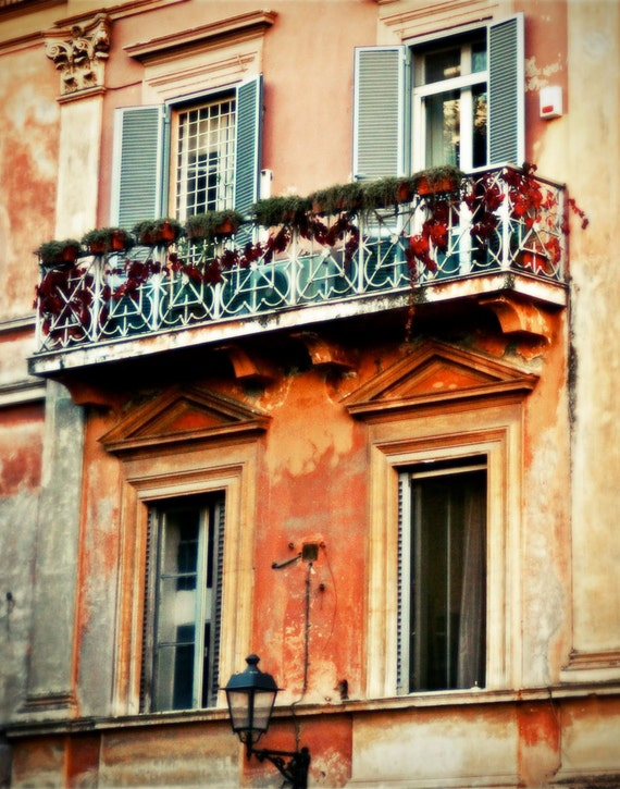 Items similar to italy photography italian architecture for Balcony in italian