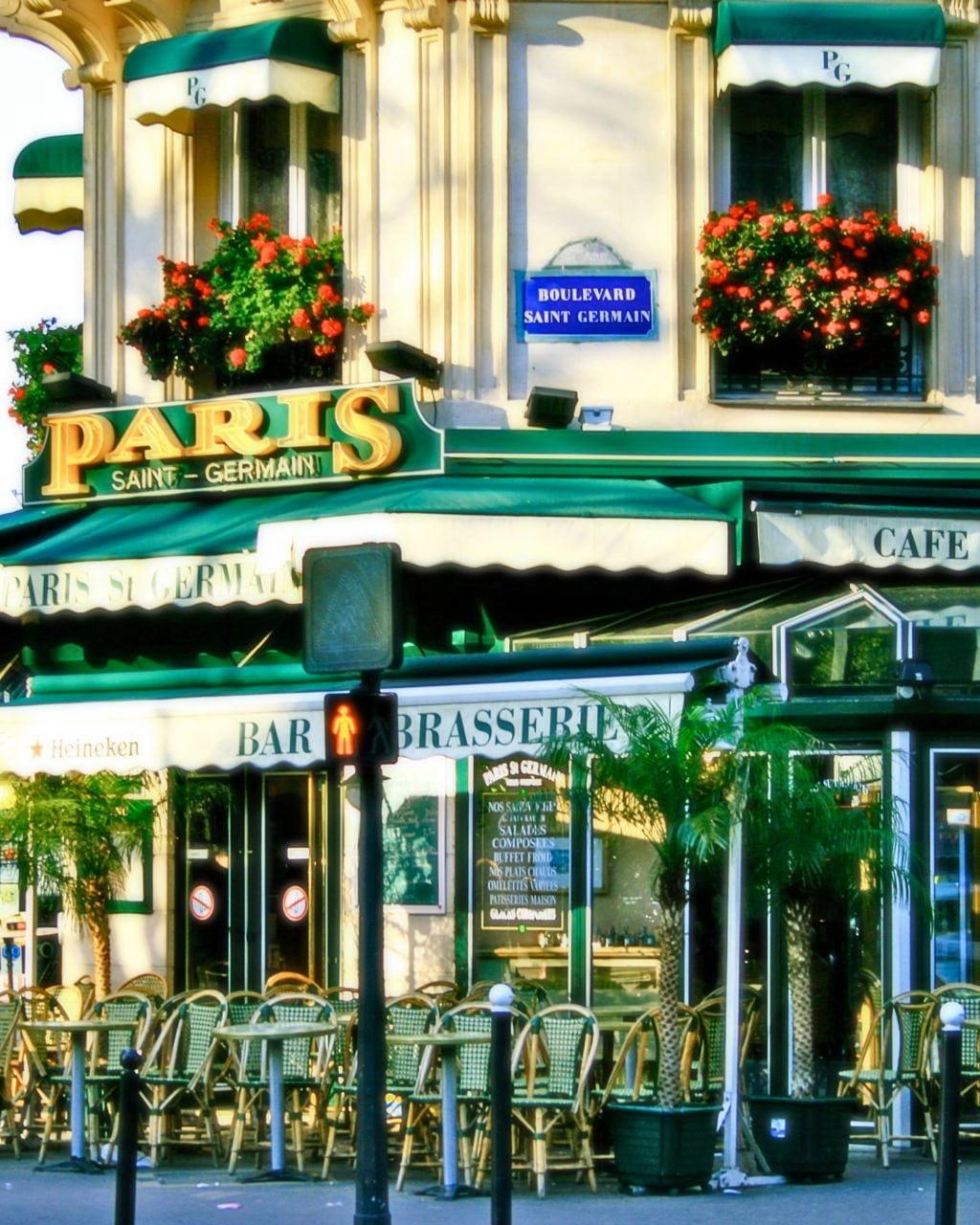 Paris photography french cafe saint
