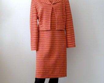 1960s Missoni Dress & Jacket / knit sheath with bolero / designer vintage