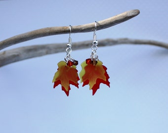 Fall Leaf Earrings, Maple Leaf Earrings Autumn Earrings Fall Earrings Maple Leaf Jewelry Autumn Leaf Jewelry Autumn Jewelry Fall Jewelry 001