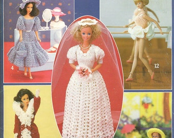 CROCHETED Fashion Doll BARBIE Clothes Leisure Arts 268 c.1983