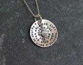 Friendship  Necklace & Birthstone - Sterling Silver - Best Friends, Friendship Quote, Friendship Gift, Going Away