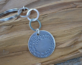Personalized for Him Gift for Dad Key Chain for Him  Sterling Silver Fathers Day Gift, Christmas for Him, Boyfriend Gift Stamped Key Chain