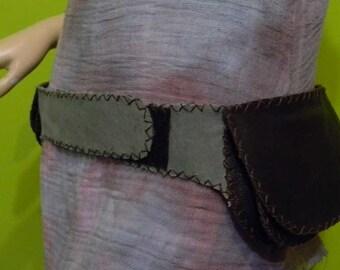 Hip Bag -Canvas pouch belt - Burning Man -Military