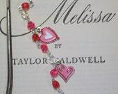 SALE - Valentine's Day Shepherd Hook Bookmark - Trio of Hearts