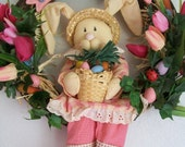 Easter Wreath - Bonnie Bunny Welcomes Spring