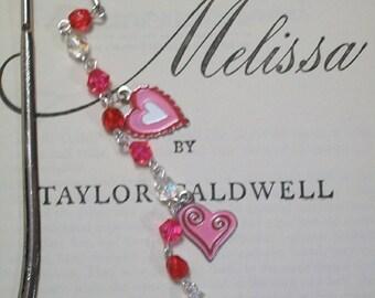Valentine's Day Shepherd Hook Bookmark - Trio of Hearts