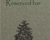 reserved for Claudia