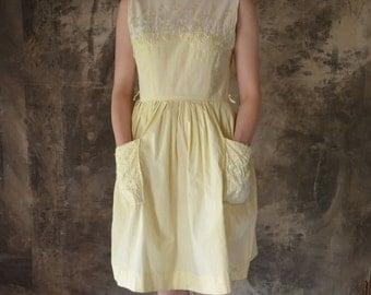 1950s  Buttercup Summer Sun Dress