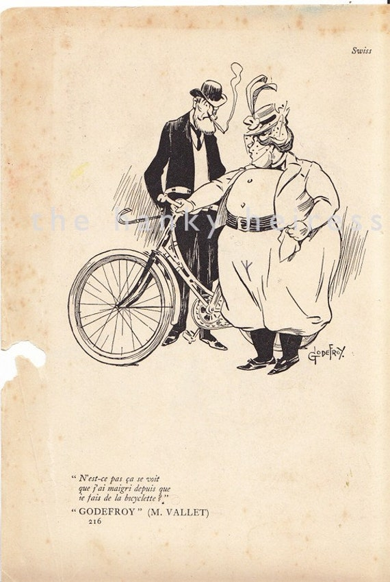 Lady Cyclist in Rational Dress/Knickerbockers Vintage Print 1901