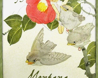 Little Darlings - Vintage Bookplates - Personalized Bookplate - Lovely Gift - Great for Photo albums, Scrapbooks, Baby Books