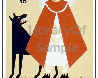 Red Riding Hoods  -  Four Choices - Personalized ADHESIVE Bookplates
