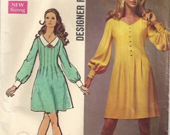 Vintage 1969 Simplicity Sewing Pattern 8582 Misses Dress Size 14