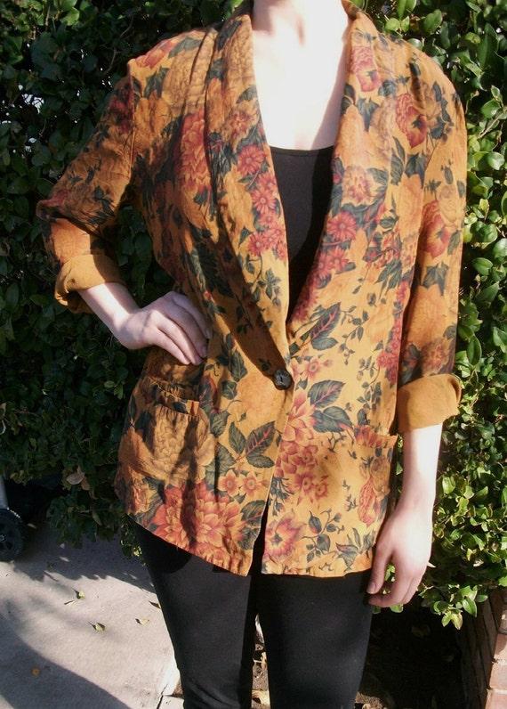 Vintage autumn garden blazer
