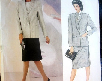 Vogue American Designer 1104 Joseph Picone Womens Skirt and Jacket Sewing Pattern Size 12 Bust 34