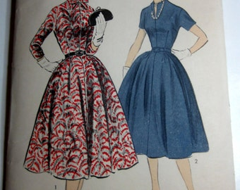 Advance 6962 Womens 40s Bow Tie Dress Pattern Bust 30