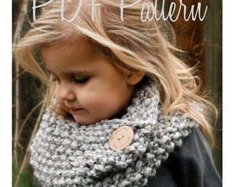 Knitting PATTERN-The Londynn Cowl (Toddler, Child, and Adult sizes)