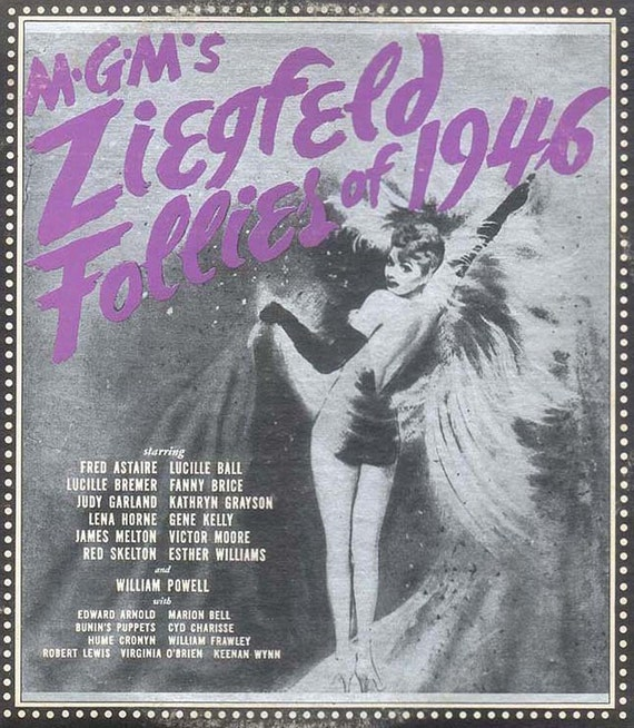 MGM's Ziegfield Follies of 1946 Sound Track Excerpts, Pin-up Lucille Ball, Comedy Skits, Music and Songs Collectible LP
