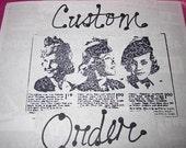 Custom order for  Helene Boulogne